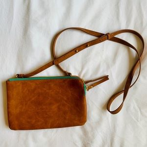 Double Zipper Clutch with Strap